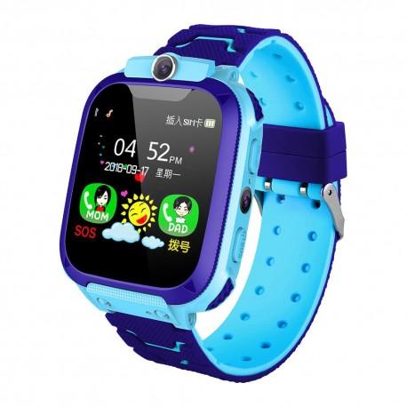 Ceas Copii Smartwatch Techstar® S9 Albastru, SIM, Monitorizare Locatie, Intercom, SOS, Camera, Microfon