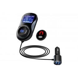 Modulator FM Auto Techstar® BC30, Bluetooth, microSD, USB QuickCharge 3.0, Negru
