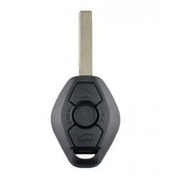 Cheie completa cu chip si telecomanda pentru BMW, 3 butoane, 433 MHZ, EWS 7935 Chip, Lama HU92