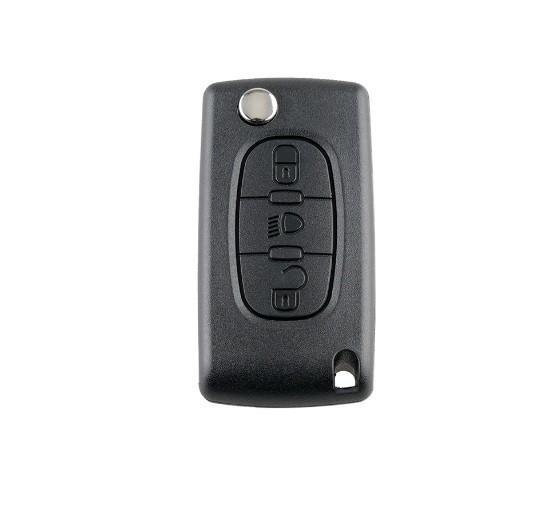 cheie completa tip briceag, cu chip si telecomanda pentru Citroen, 3 butoane, 433 MHZ CE0536 ASK ID46 Chip