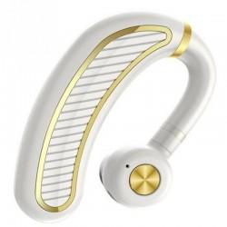 Casca Bluetooth Techstar® K21 Alb/Auriu, Sunet HD, Autonomie Mare