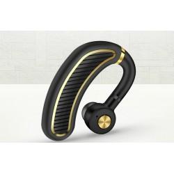 Casca Bluetooth Techstar® K21 Negru/Auriu, Sunet HD, Autonomie Mare, Ultra Usor