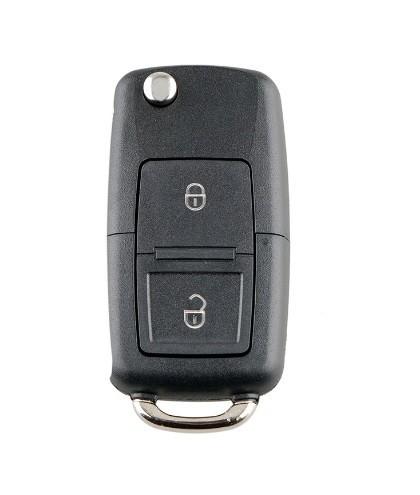 Cheie completa tip briceag, cu chip si telecomanda pentru Volkswagen, 2 butoane, 433 mhz 1J0959753CT ID48