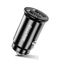 Incarcator Auto Techstar® Dual USB 5V 4.8A Fast Charging Compact