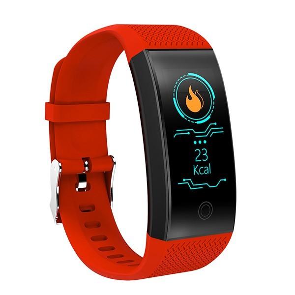 Bratara Fitness Smart Techstar® QW18 ROSU, Monitorizare Cardiaca, Sedentary, Bluetooth, IP65, Ecran IPS imagine techstar.ro 2021
