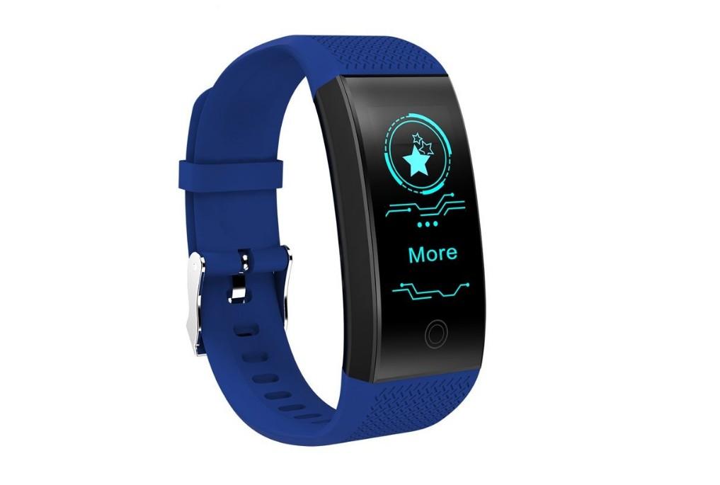 Bratara Fitness Smart Techstar® QW18 ALBASTRU, Monitorizare Cardiaca, Sedentary, Bluetooth, IP65, Ecran IPS