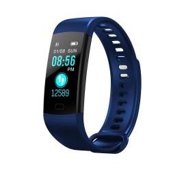 Bratara Smart Fitness Sport Y5 Albastru Bluetooth 4.0 Waterproof cu Monitorizare Somn, Cardiaca si Pedometru
