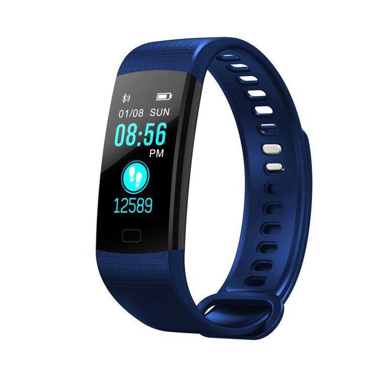 Bratara Smart Fitness Sport Y5 Albastru Bluetooth 4.0 Waterproof cu Monitorizare Somn, Cardiaca si Pedometru imagine techstar.ro 2021
