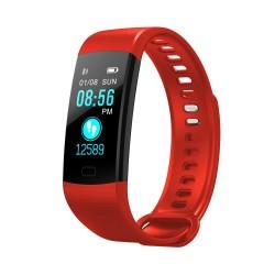 Bratara Smart Fitness Sport Y5 Rosu Bluetooth 4.0 Waterproof cu Monitorizare Somn, Cardiaca si Pedometru