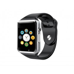 Ceas Smartwatch Techstar® A1 Argintiu cu Bluetooth, Compatibil SIM si MicroSD