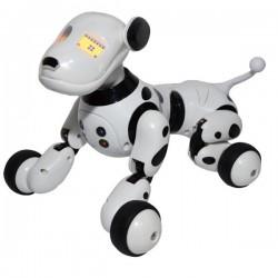 Robot Catel interactiv iUni Smart-Dog vorbitor, telecomanda, Alb