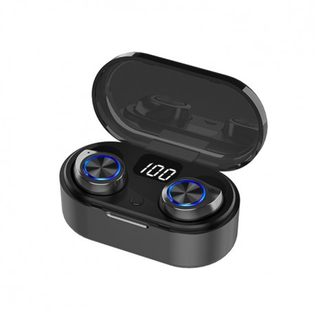 Casti TWS80, Touch, Bluetooth 5.0+EDR, IPX-4, IOS, Android, cutie cu fixare magnetica si baterie, apeluri, muz