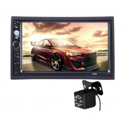 2Din, mp3/mp5 player auto universal 7010b, Navigatie MirrorLink, Rama, Camera patrata