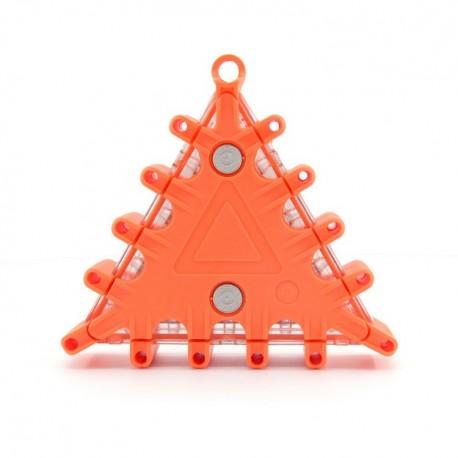 Triunghi de urgenta cu semnalizare LED intermitenta, 9 moduri