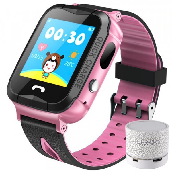 Ceas GPS Copii iUni Kid6, Touchscreen, BT, Camera 2MP, Buton SOS, Rezistent la apa, Roz + Boxa Cadou imagine techstar.ro 2021