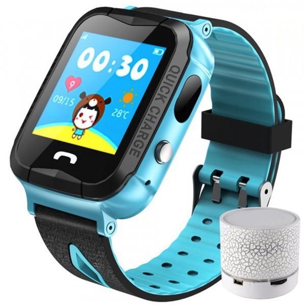 Ceas GPS Copii iUni Kid6, Touchscreen, BT, Camera 2MP, Buton SOS, Rezistent la apa, Albastru + Boxa Cadou imagine techstar.ro 2021