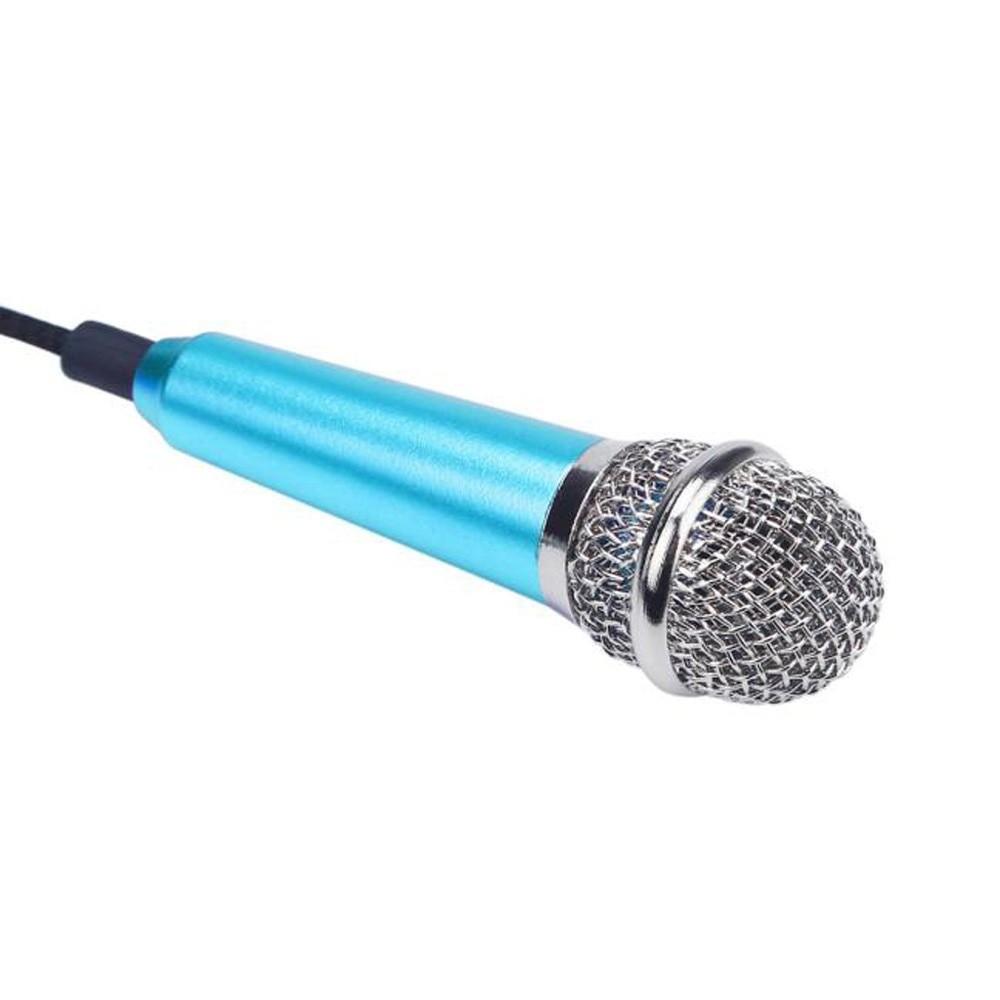 Microfon Profesional BM100 Techstar®, Inregistrare Vocala Si Karaoke, 3.5mm, Albastru imagine techstar.ro 2021