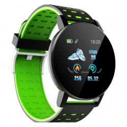SMARTWATCH TECHSTAR® 119 VERDE UNISEX WATERPROOF IP67 BT 4.0, ECRAN 1.3 INCH CONECTARE ANDROID SI IOS