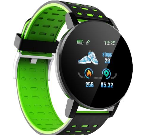 Smartwatch Techstar® 119, Verde, Unisex, Waterproof, IP67, BT 4.0, Ecran 1.3 inch, Conectare Android si iOS poza 2021