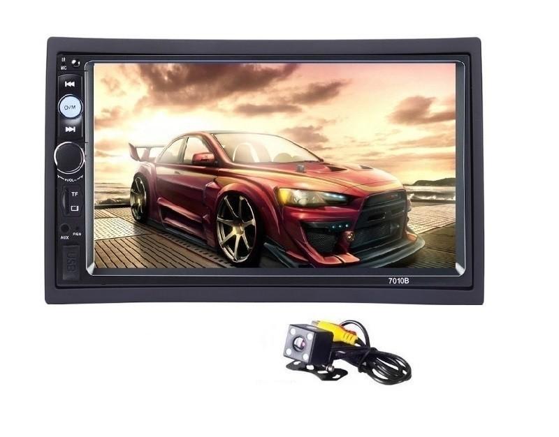 2Din mp5 player auto universal 7010b, Navigatie MirrorLink Rama Camera marsarier imagine techstar.ro 2021