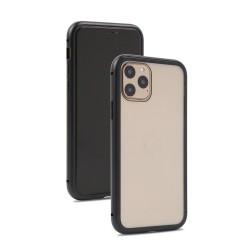 Husa de protectie 360, iPhone 11 , magnetica cu sticla tempera 9H pe spate, Negru