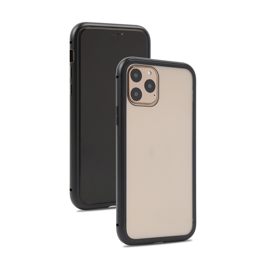 Husa de protectie 360, iPhone 11 , magnetica cu sticla tempera 9H pe spate, Negru imagine techstar.ro 2021