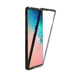 Husa de protectie 360, Samsung Galaxy Note 10 , magnetica cu sticla tempera 9H pe spate, Negru