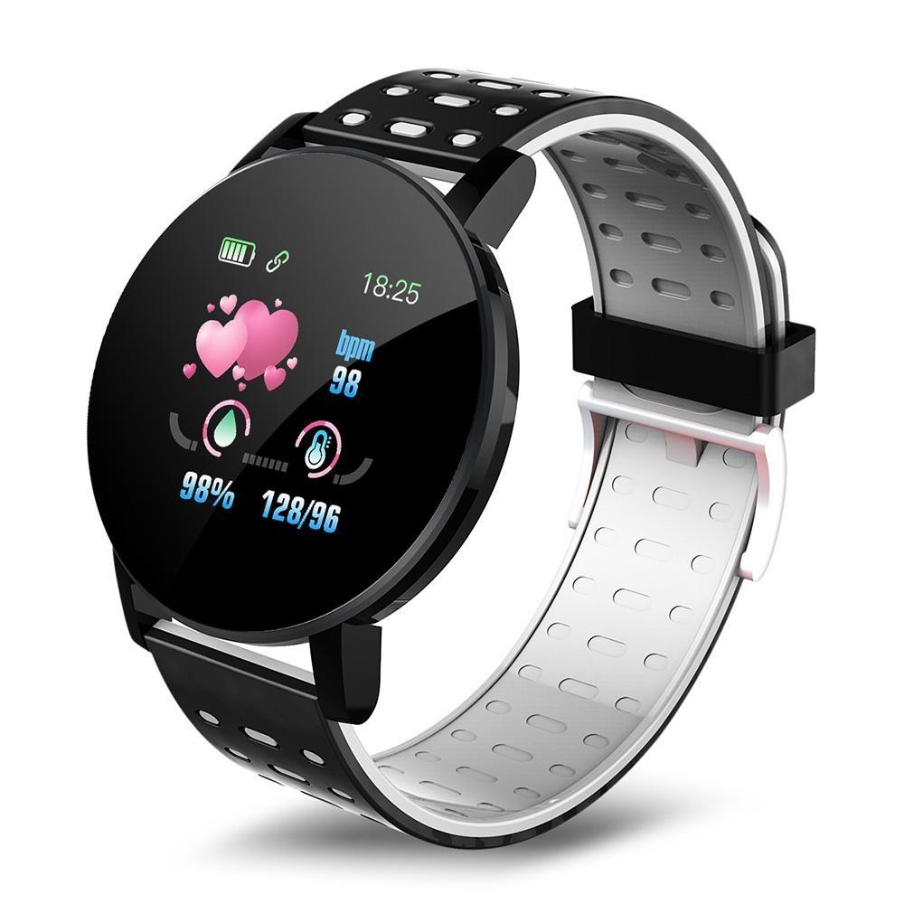 Ceas Smartwatch Techstar® 119 Gri, 1.3 inch IPS, Monitorizare Cardiaca, Tensiune. Oxigenare, Sedentary, Bluetooth, IP65