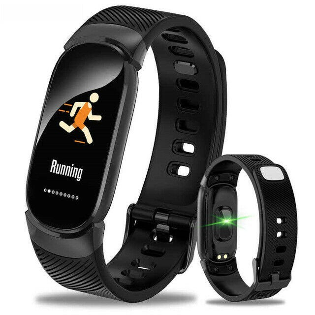 Bratara Techstar® Fitness B11 Negru, IPS, Bluetooth 4.0, IP65, Monitorizare Cardiaca, Tensiune. Oxigenare, Hidratare