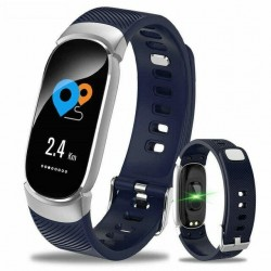 Bratara Techstar® Fitness B11 Albastru, IPS, Bluetooth 4.0, IP65, Monitorizare Cardiaca, Tensiune. Oxigenare, Hidratare
