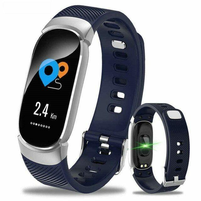 Bratara Techstar® Fitness B11 Albastru, IPS, Bluetooth 4.0, IP65, Monitorizare Cardiaca, Tensiune. Oxigenare, Hidratare imagine techstar.ro 2021