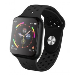Smartwatch Techstar® Sport F9 Negru Waterproof IP67 Functie Bluetooth, Ecran 1.3 inch Conectare Android si IoS