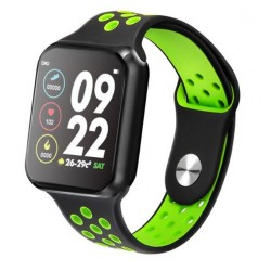 Smartwatch Techstar® Sport F9 Verde Waterproof IP67 Functie Bluetooth, Ecran 1.3 inch Conectare Android si IoS