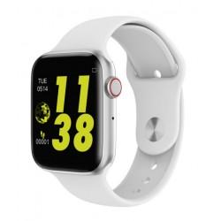 Ceas Smartwatch Techstar® W34 Alb, 1.54 inch HD IPS, Monitorizare Cardiaca,Electrodiagrama ECG, Sedentary, Bluetooth