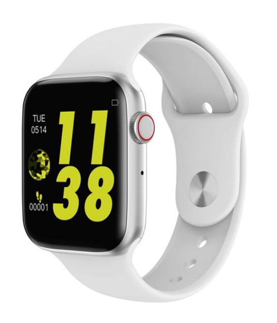 Ceas Smartwatch Techstar® W34S Alb, 1.54 inch HD IPS, Monitorizare Cardiaca,Electrodiagrama ECG, Sedentary, Bluetooth poza 2021