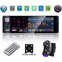 "Radio Auto MP5 PLAYER Techstar® 110C SMART 1DIN, cu Display 4.1"", Bluetooth, Comenzi pe Volan, Camera Marsarier si Microfon"