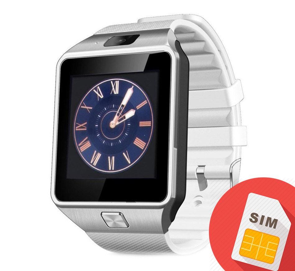 Smartwatch Mtk DZ09 cu Bluetooth si Camera Foto, Compatibil SIM si MicroSD Alb poza 2021