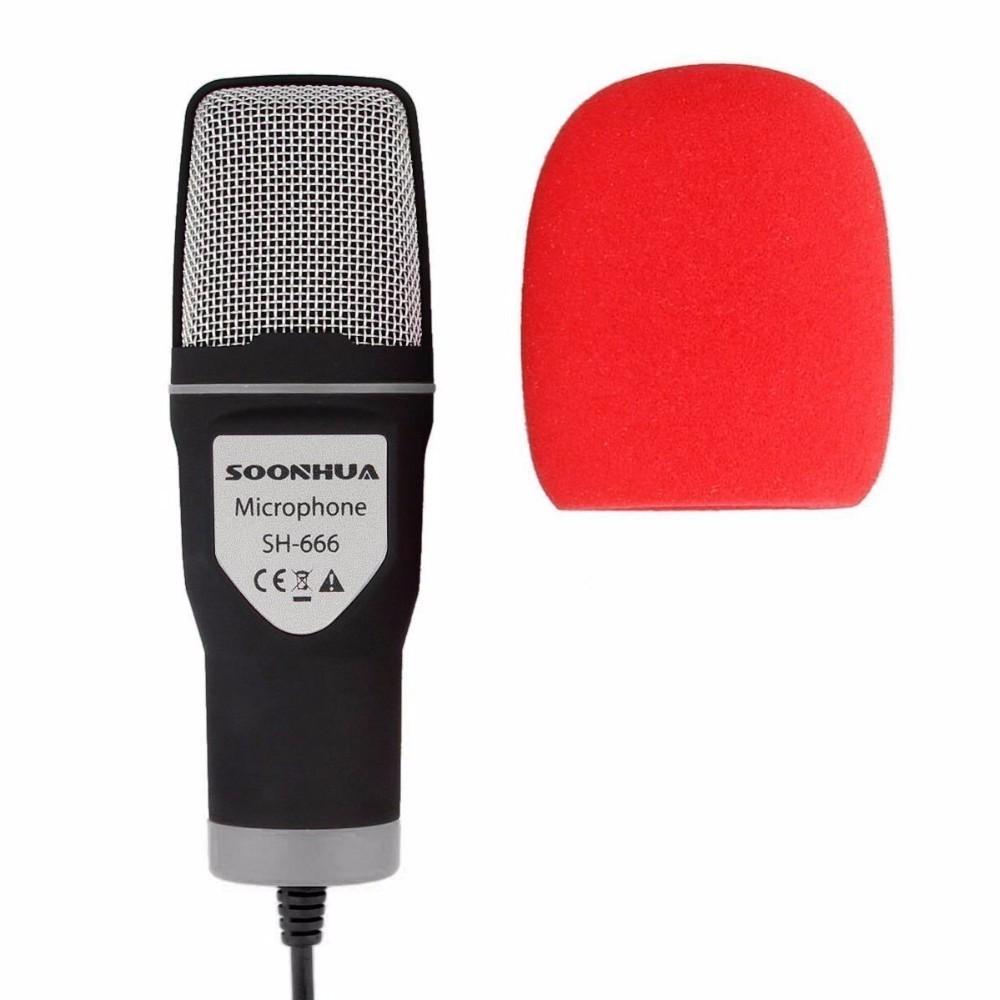 Microfon Profesional SH666 Techstar® Rosu, Inregistrare Vocala Si Karaoke, Negru imagine techstar.ro 2021
