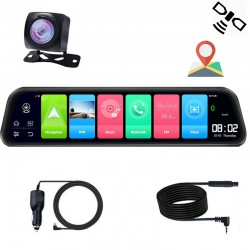 """Camera Auto Tip Oglinda T40S , Dubla, 12"""" Inch, IPS, Touch Screen,2K 1440P, Night Vision, Time-Lapse, H265"""