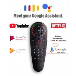 Telecomanda Techstar® Airmouse G30 Wireless, Clonare Telecomanda, Google Assistant, Voice Search, for TV Box, Android TV