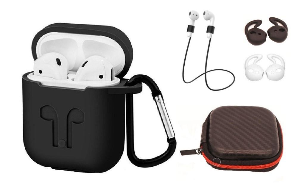 Set 6 accesorii AirPods, culoare neagra imagine techstar.ro 2021
