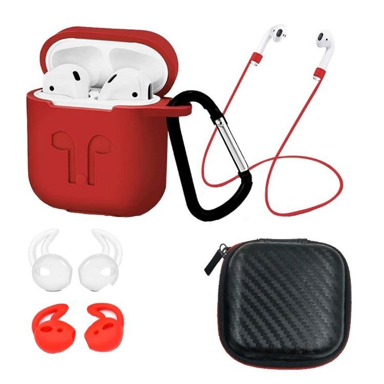 Set 6 accesorii AirPods, culoare rosie imagine techstar.ro 2021