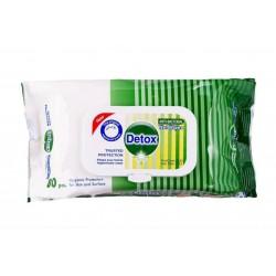 Servetele Umede Detox, Antibacteriene, 80buc/pachet