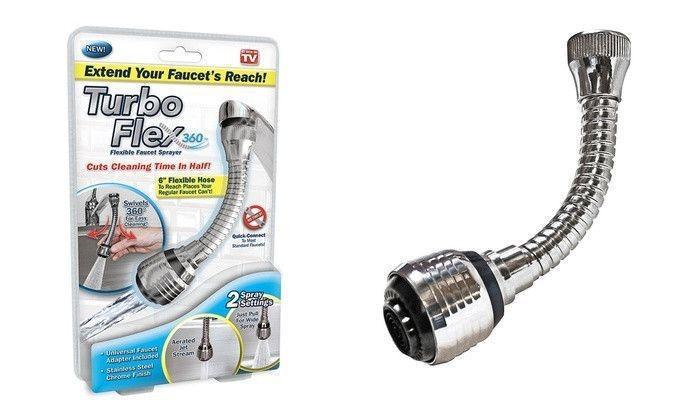 Prelungitor flexibil Turbo Flex universal pentru robinet imagine techstar.ro 2021