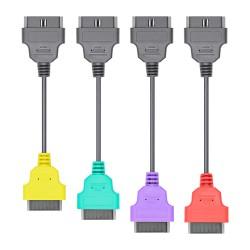 Set 4 Cabluri Adaptoare Auto Fiat, la OBD2 16 Pin