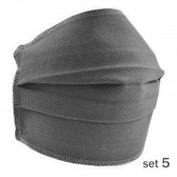 Set 5 Masti Fashion de Protectie Techstar® Reutilizabile 2 Straturi Polipropilena, Gri