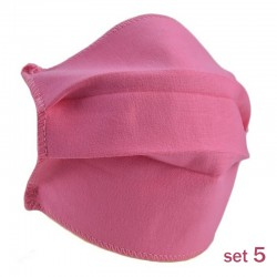 Set 5 Masti Fashion de Protectie Techstar® Reutilizabile 2 Straturi Polipropilena, Roz