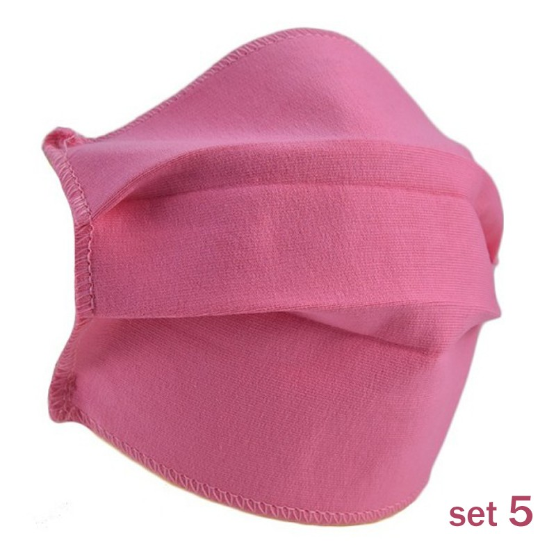 Set 5 Masti Fashion de Protectie Techstar® Reutilizabile 2 Straturi Polipropilena, Roz imagine techstar.ro 2021