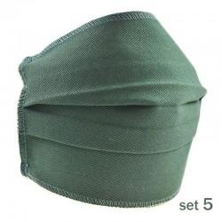 Set 5 Masti Fashion de Protectie Techstar® Reutilizabile 2 Straturi Polipropilena, Verde