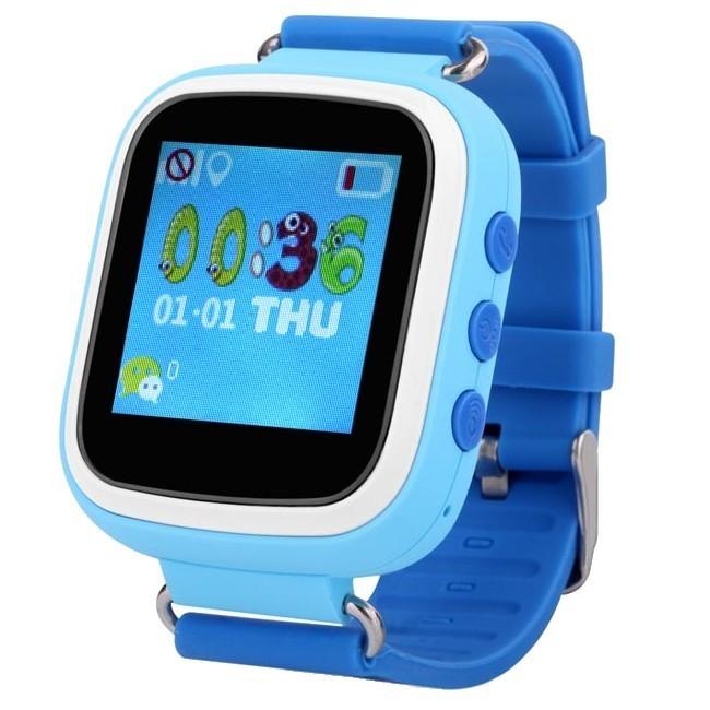 Ceas Smartwatch cu GPS Copii iUni Q80, Telefon incorporat, Buton SOS, Bluetooth, Albastru
